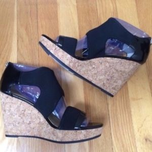 ADRIENNE VITTADINI 'Chelle' Cork Wedge Sandals